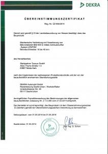 Zertifikat Erico-Lenton