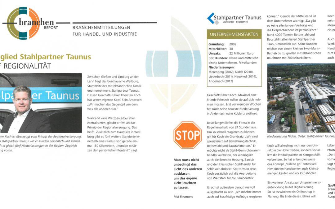 E/D/E Mitglied Stahlpartner Taunus setzt auf Regionalität
