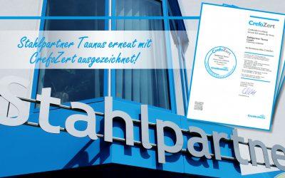 Stahlpartner Taunus erneut mit CerfoZert ausgezeichnet!