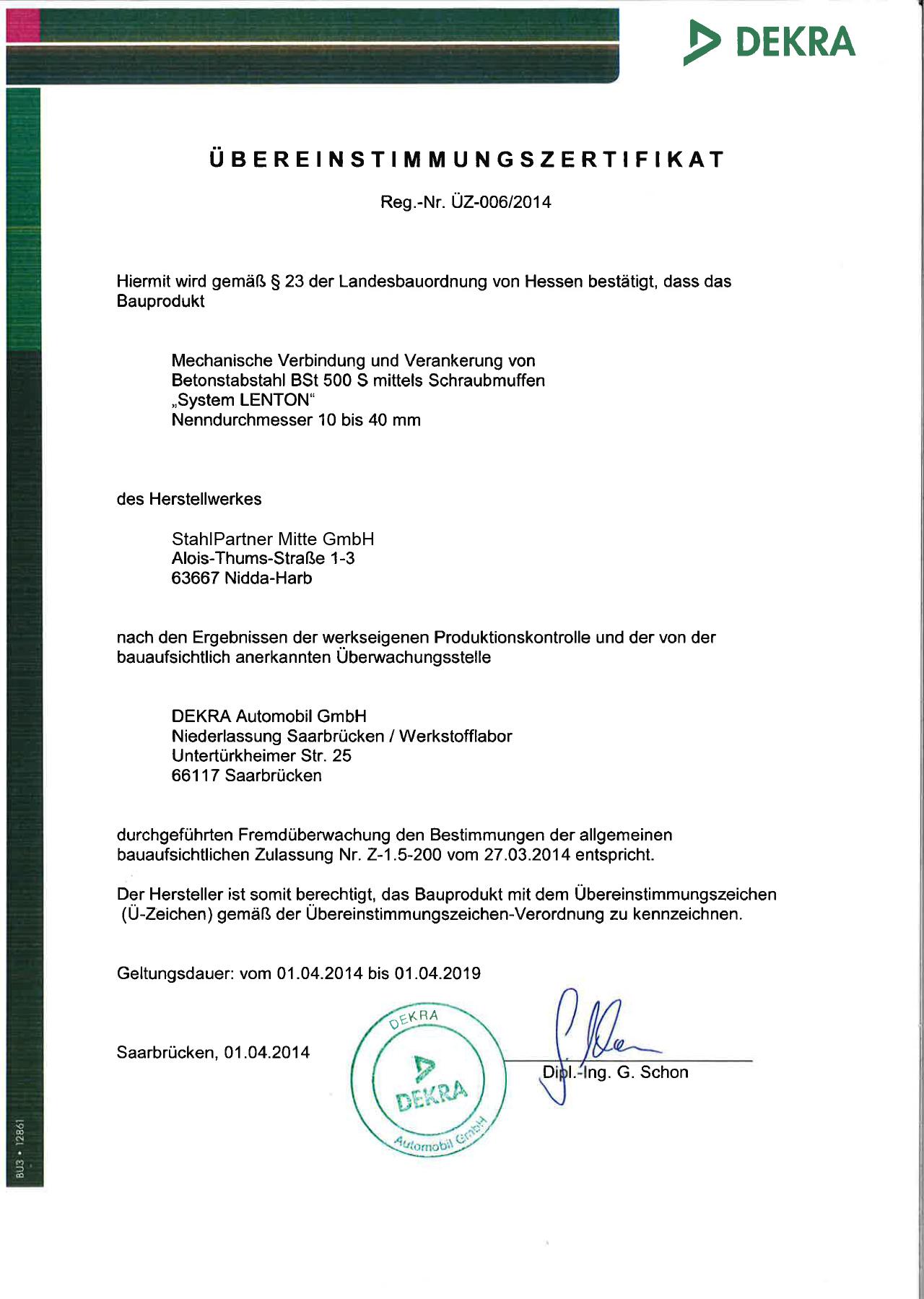 zertifikat_erico_lenton_stuetzpunkthaendler_urkunde