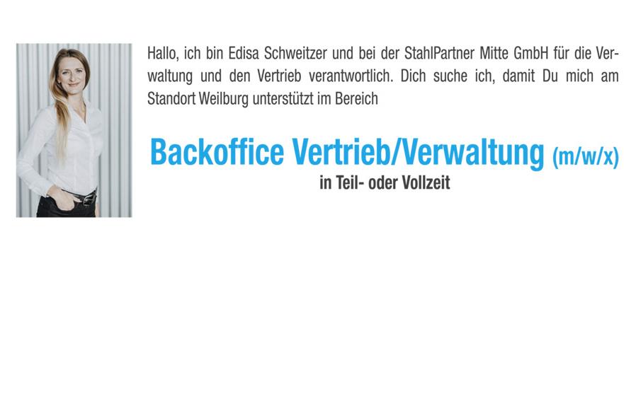 Backoffice Vertrieb / Verwaltung (m/w/x) in Teil- oder Vollzeit