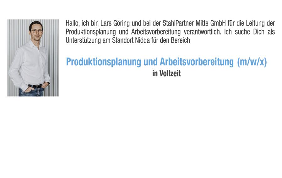 Produktionsplanung und Arbeitsvorbereitung (m/w/x) in Vollzeit