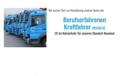 Berufserfahrene Kraftfahrer (m/w/x) CE im Nahverkehr