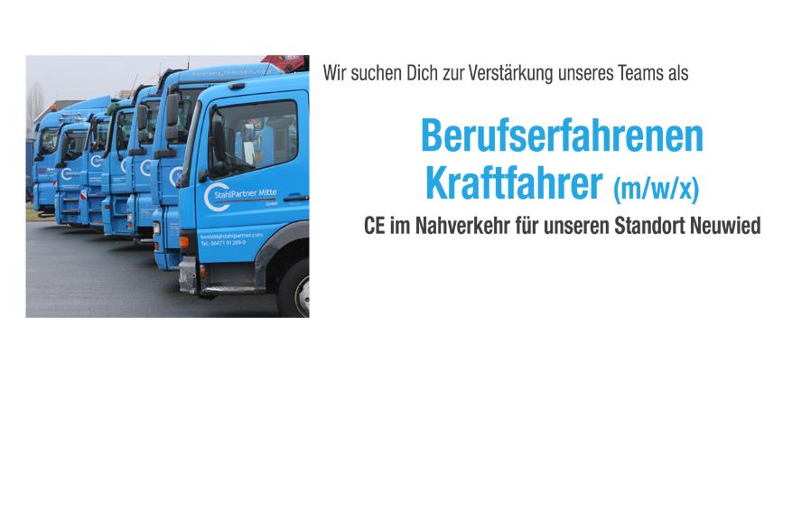 Berufserfahrene Kraftfahrer (m/w/x) CE im Nahverkehr – Neuwied