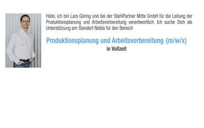 Produktionsplanung und Vorbereitung (m/w/x)