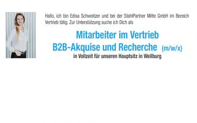 Mitarbeiter Vertrieb B2B-Akquise und Recherche (m/w/x)