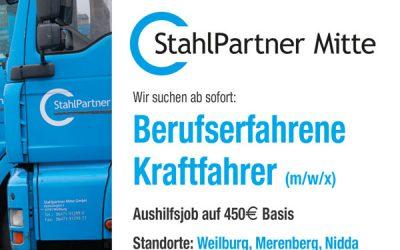 Berufserfahrenen Kraftfahrer (m/w/x) CE im Nahverkehr auf 450€ Basis