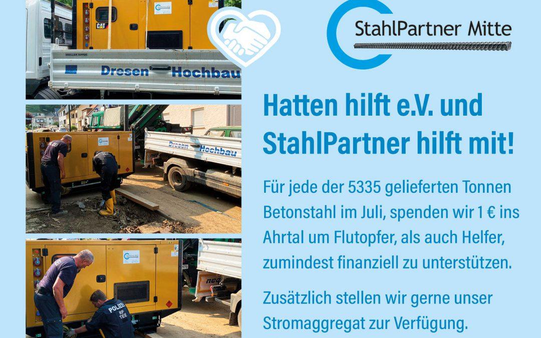 Hatten hilft e.V. und Stahlpartner hilft mit!